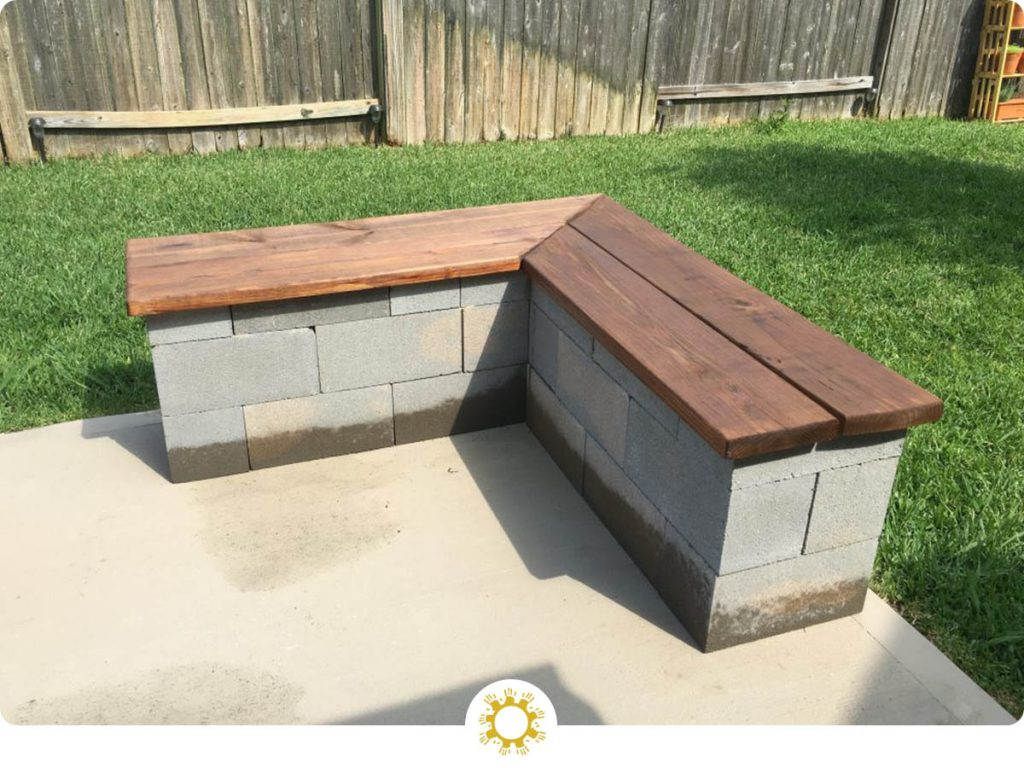 Cinderblock Outdoor Benches