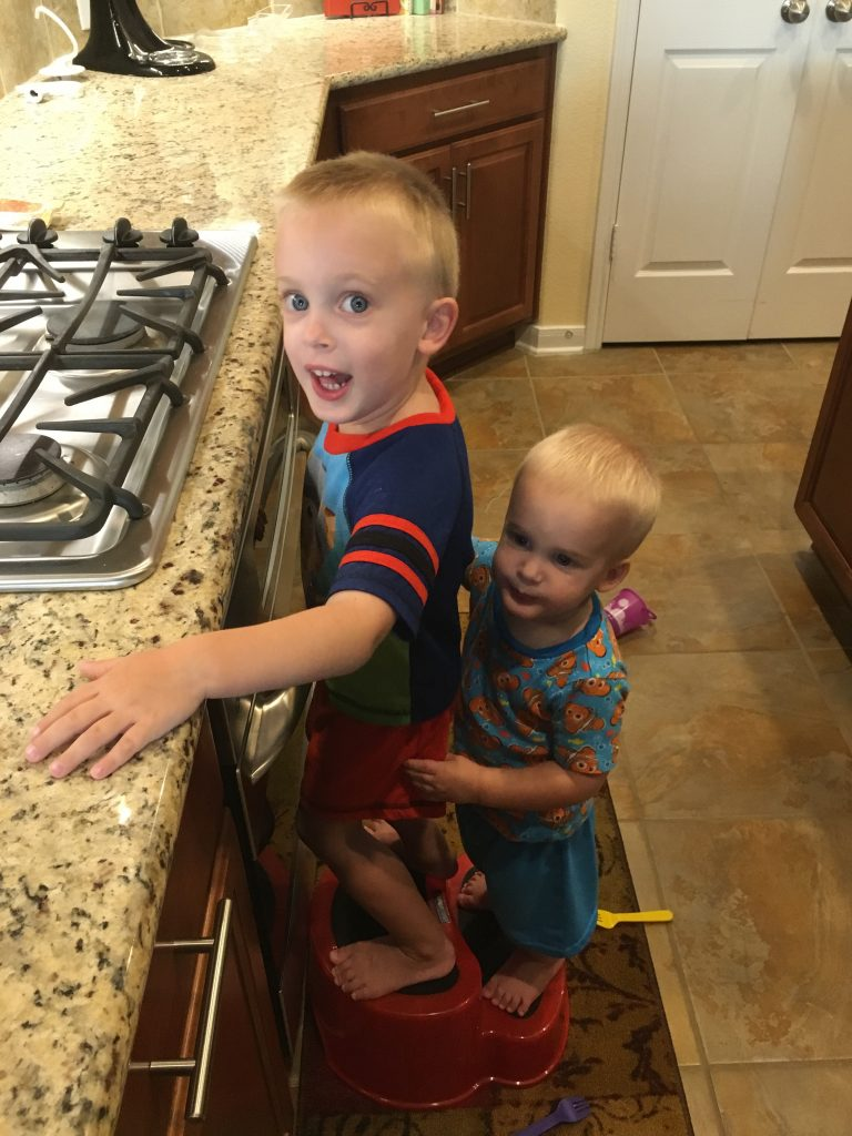 Don't be fooled by the pjs, we were eating these for dinner…. the boys just had a pajama day!!