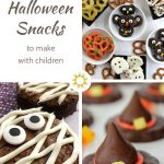 Halloween is a great time to make some fun snacks with the children. Making Halloween snacks is a great way to get them excited to help in the kitchen. #halloweensnacks