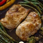 Quick and Easy Teriyaki Chicken Bake on a wooden surface (with title overlay)