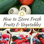 How to Store Fresh Fruits and Vegetables