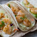Shrimp Tacos with Coleslaw