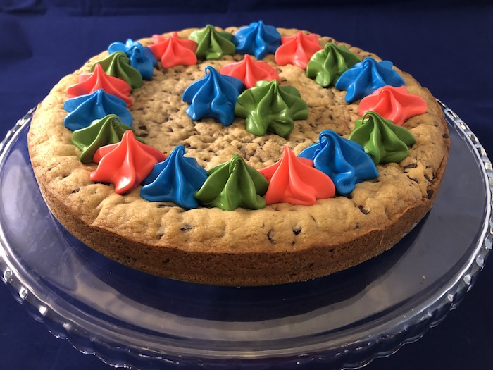 The PJ Masks cookie cake I made for Tyler's 5th birthday party.