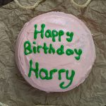 Harry Potter's Birthday Cake on a brown paper (horizontal)