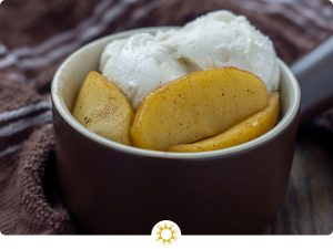 Sauteed Apple with Ice Cream