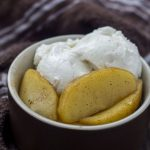 Sauteed Apple with Ice Cream