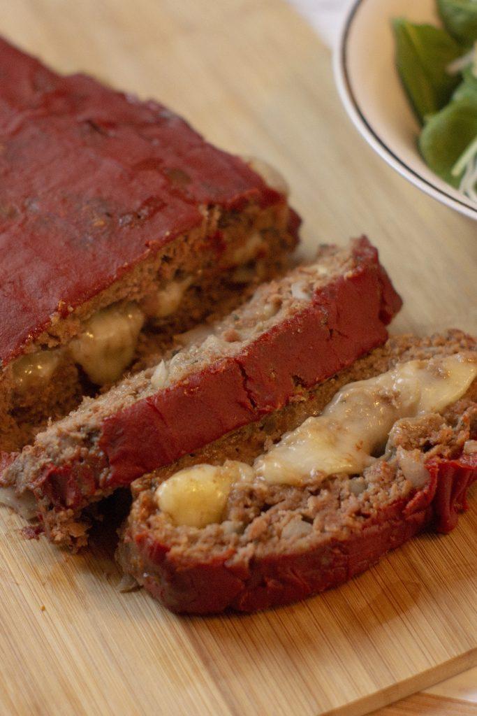 Mozzarella-Stuffed Meatloaf
