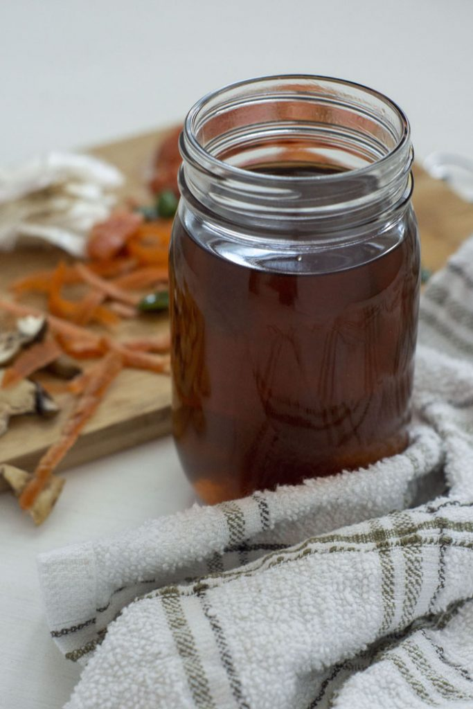 Vegetable Broth from Kitchen Scraps
