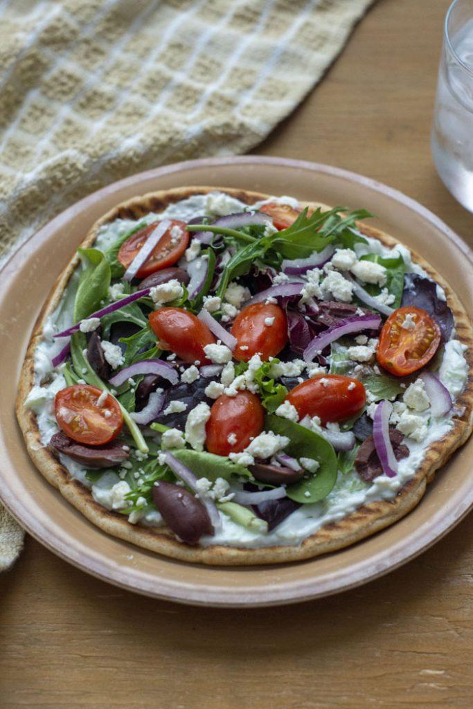 Open-Faced Greek Pita