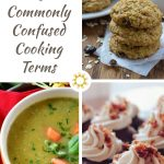 Photos of broth soup, oatmeal raisin cookies, and chocolate cupcakes with title overlay