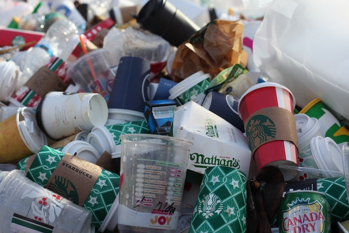 Close up of a pile of trash