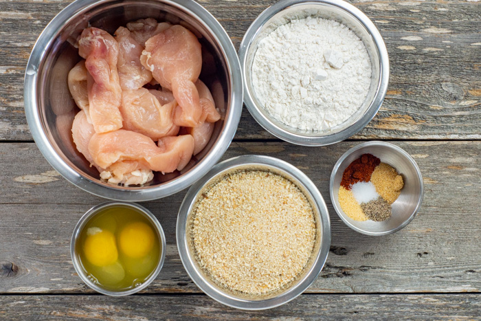 Ingredients for Homemade Chicken Tenders